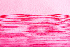 Stack of pink paper table napkins Royalty Free Stock Photography