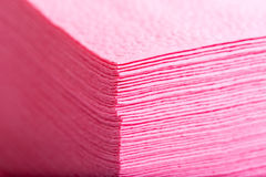 Stack of pink paper table napkins Royalty Free Stock Photos
