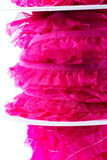 Stack of pink and red ribbon Royalty Free Stock Image