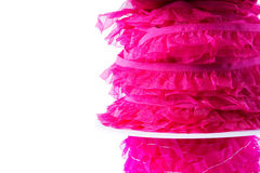 Stack of pink and red ribbon Royalty Free Stock Photos