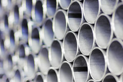 Stack of pipe Stock Photo