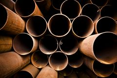 Stack of pipes Stock Photography