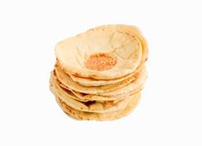 Stack of pita bread Royalty Free Stock Photo
