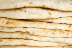 Stack of Pita Bread Stock Photography
