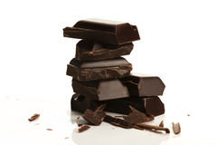 Stack of plain chocolate Stock Photography