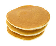 Stack of plain pancakes Royalty Free Stock Image