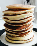 Stack of Plain Pancakes. Dessert concept Stock Photos