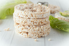 A stack of plain rice cakes Royalty Free Stock Photography