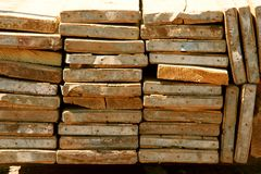 Stack of Planks Royalty Free Stock Photo