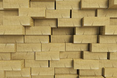Stack of planks Stock Images