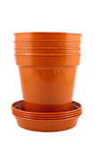 Stack of plant pots Stock Image