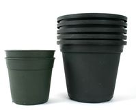 Stack of plant pots Stock Photography