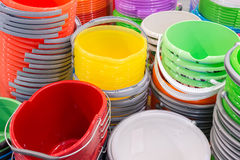 Stack of plastic bucket Stock Images