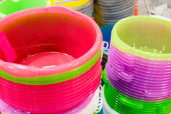 stack of plastic bucket Royalty Free Stock Photography