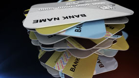 A stack of plastic cards Royalty Free Stock Images