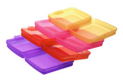 Stack of Plastic Containers Royalty Free Stock Image