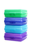 Stack of Plastic Containers Stock Photos