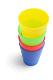 Stack of Plastic Cups Stock Photography