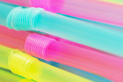 Stack of plastic drinking straws Royalty Free Stock Image