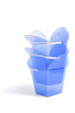 Stack of Plastic Gift Boxes Royalty Free Stock Photography