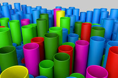 Stack of plastic pipe Royalty Free Stock Photography