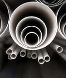Stack of plastic pipes Stock Photography