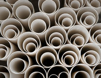 Stack of plastic pipes Royalty Free Stock Photography