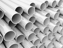 Stack of plastic pipes Royalty Free Stock Images