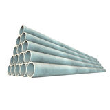 Stack of plastic pipes. Royalty Free Stock Photo