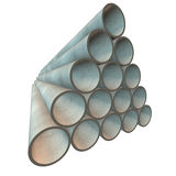 Stack of plastic pipes. Royalty Free Stock Photography