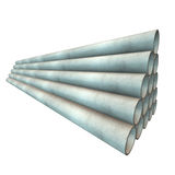 Stack of plastic pipes. Royalty Free Stock Photos