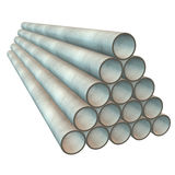 Stack of plastic pipes. Stock Images