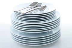 Stack of plate Royalty Free Stock Photos