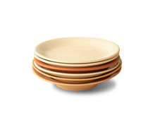 Stack of plates Royalty Free Stock Photos