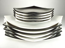 Stack of plates royalty free stock images
