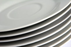 Stack of Plates - Closeup Royalty Free Stock Photography