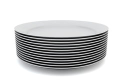 Stack of plates Stock Images