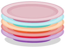 Stack of plates. Illustration of a stack of plates Stock Images