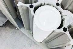 Stack of Plates Royalty Free Stock Photography