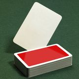 Stack of playing cards Stock Photography