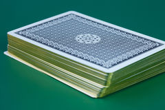 Stack of playing cards Royalty Free Stock Photos