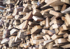 Stack of Plenty Fir Wood Boards Placed Bulk Royalty Free Stock Image