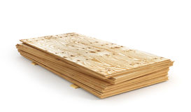 Stack of plywoods isolation on a white background. Stock Photos