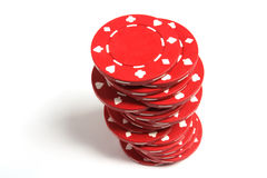 Stack of Poker Chips Royalty Free Stock Photography