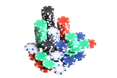 Stack of poker chips Stock Photography