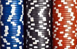 Stack of poker chips Royalty Free Stock Image