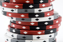 A Stack of Poker Chips Royalty Free Stock Photography