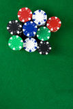 Stack of poker chips Stock Images