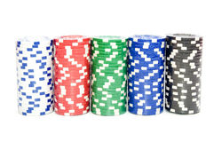 Stack of a poker chips Stock Photography