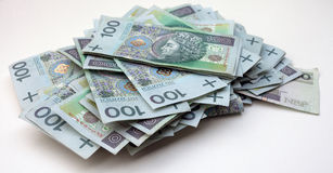 Stack of polish money Royalty Free Stock Photography